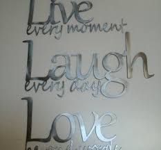 This Is Made Of Polished Steel Metal Wall Decor The Perfect Combination Beautiful Slogans