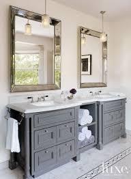 Mesa 48 Inch Double Sink Bathroom Vanity by In The Master Bathroom Rosenfeld Hung A Pair Of Midcentury Nickel