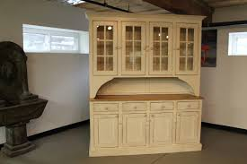 Rustic Hutch From Reclaimed Wood In Buttermilk Paint Color