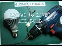 how to recycle busted led bulb to 12vdc