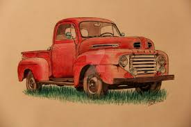 Pickup Truck Drawing At GetDrawings.com   Free For Personal Use ...