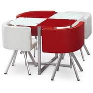 ensemble table chaises table et chaises mosaic 90 menzzo pas cher à prix auchan