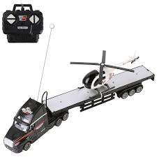 100 Remote Control Semi Truck With Trailer Amazoncom 24Ghz RC Black With Bed Toy And