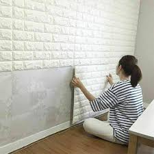 10 tlg 3d tapete wandpaneele selbstklebend ziegelstein wasserdicht wandaufkleber weiß 77x70 cm