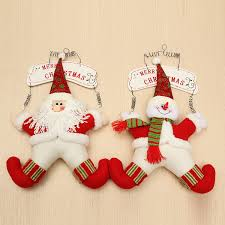 Christmas Decoration Welcome Snowman Santa Claus Door Hanging Party