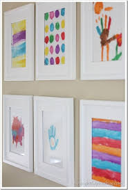Love This Idea Of Using Kids Drawings And Paintings As Art On Your Gallery Wall
