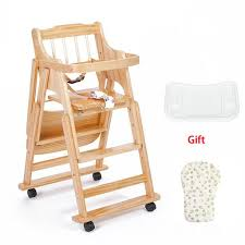 Multi-Functional Childrens Study Chair Solid Wood Moving ...