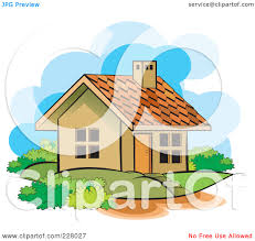 Royalty Free Rf Clipart Illustration Of A Cute House And Yard By Lal Gphwcr