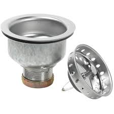 glacier bay specification sink strainer in stainless steel 7044