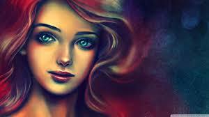 Portrait Of A Beautiful Woman Painting 4K HD Desktop Wallpaper