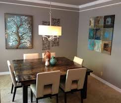 completing some decorating element for dining room table