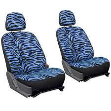 Oxgord Trim 4 Fit Floor Mats by 21pc Blue Zebra Print Car Seat Cover Full Set Floor Mat Wheel Belt