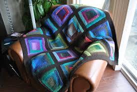 Paintbox Log Cabin Blanket