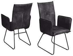 2 stühle stuhl arona r5015 13 küchenstuhl esszimmer armlehnen stuhl webstoff anthrazit
