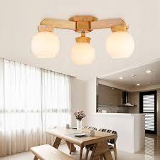 moderne deckenleuchte aus holz für wohnzimmer