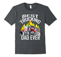 100 Best Trucking Mens Dad Ever Truck Driver Fathers Day Gift ShirtVaci