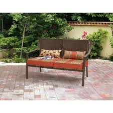 Amazon Prime Patio Chair Cushions by Amazon Com Mainstays Alexandra Square Patio Loveseat Bench