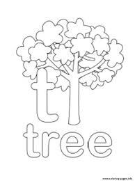 Alphabet Tree Lowercase589c Coloring Pages
