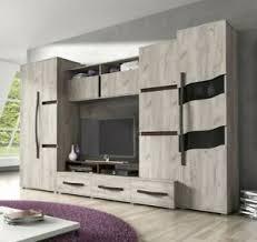details zu wohnwand marii anbauwand modern beleuchtung schrank wohnzimmer