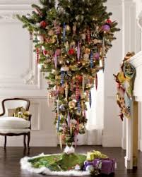 Why Not Flip Your Tree Upside Down This Year Give It A Spin And Hang From The Ceiling