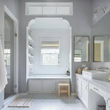 transom window bathtub alcove design ideas