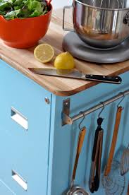Locking File Cabinet On Wheels by Make A Rolling Kitchen Cart From An Old Filing Cabinet Curbly
