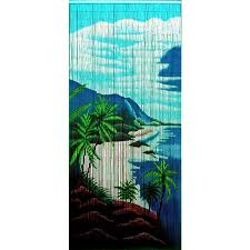 Natural Bamboo Beaded Door Curtain by Beaded Curtain Bamboo Hand Painted Decorate Our Home With