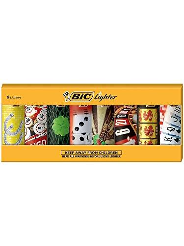 Bic Casino Gambler Gambling Lighter - 5pcs