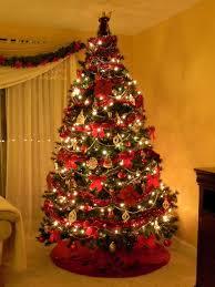 Christmas Tree Bead Garland Ideas by Christmas Decorated Homes Peeinn Com