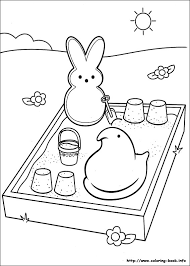 Marshmallow Peeps Coloring Picture