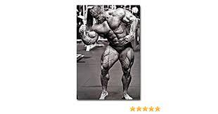 bodybuilding motivationszitat wand bilder retro vintage