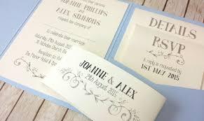 Handmade Wedding Invitations BLUE VINTAGE