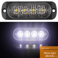 100 Truck Strobe Lights 12V 24V 12W 4 LED White Yellow Waterproof Car Emergency