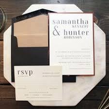 Modern Text Copper Chic Calgary Wedding Invitations Invites Canmore Banff