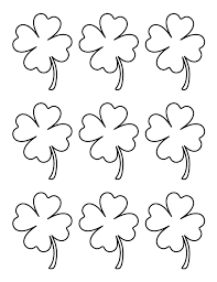 Printable Small Four Leaf Clover Pattern Use The For Crafts Creating Stencils