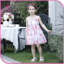 Special Occasion Print Chiffon Girls Dresses 2016 Kids
