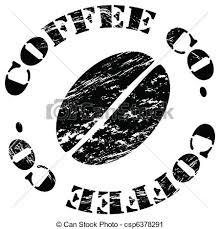 Coffee Bean Grungy Illustration Of A Surrounded By The
