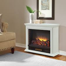 Decor Flame Infrared Electric Stove by Pleasant Hearth Sheridan Mobile Fireplace White Walmart Canada