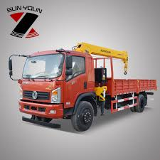 100 Service Truck With Crane For Sale Dongfeng 5 Ton On In Shanghai Basket Buy