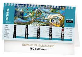 calendrier bureau calendriers couleurs nature recto calendrier chevalet de bureau