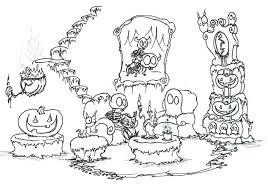 Skeleton Halloween Coloring Pages Printable For Preschoolers