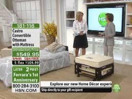 castro convertible ottoman with mattress youtube