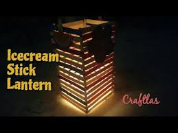 Popsicle Stick Craft Lamp For Kids Activity
