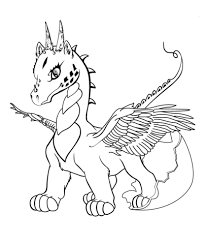 Printable Dragon Coloring Pages Pictures For Kids