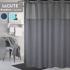Lagute Snaphook TrueColor Hookless Shower Curtain, Gray Best Home Fashion Thermal Insulated Blackout Curtains Back Tab Rod Pocket Beige 52w X 84l Set Of 2 Panels Shop Farmhouse Style Decor Point Valances Pretty Windows Discount Country Window Toppers Top Swags Galore Aurora Mix Match Tulle Sheer With Attached Valance And 4piece Curtain Panel Pair Post Taged Outlet Store Lined Scalloped Custom Treatments Draperies Page 1 Primitive Rustic Quilts Rugs Drapes More From The Lagute Snaphook Truecolor Hookless Shower Gray