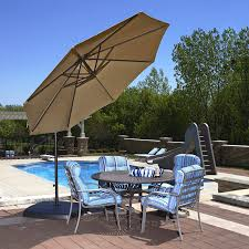 Large Cantilever Patio Umbrella by Amazon Com Santiago 10 Ft Octagonal Cantilever Umbrella In Stone