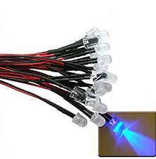 led world 20pcs 10mm ultra violet uv led pre wired light 12v 18cm