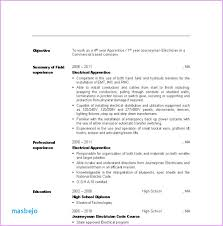 Electrician Apprentice Resume Examples Electrical Maintenance