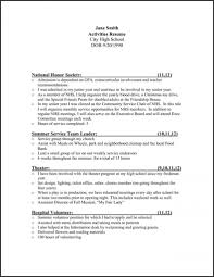Interests And Activities For Resume Examples Of Resumes Template College Application Fresh