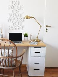 diy desk for two using ikea alex drawer a wooden countertop